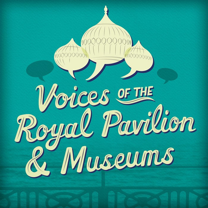 The logo for Voices of the Royal Pavilion & Museums